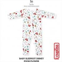 Pooh Flower Little Palmerhaus Baby Sleepsuit Disney Baju Tidur