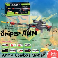Pistol Nerf AWM PUBG Free Fire CODM Mainan Tembakan Nerf BRO1222