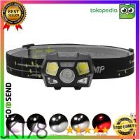 TaffLED Headlamp Rechargeable USB Motion XPE+COB 10000Lumens BL066 - Hitam