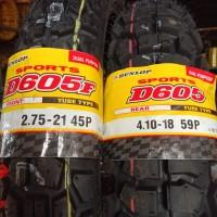 Paket Ban Dunlop D605 275 - 21 Dan 410 - 18 TRAIL TUBETYPE