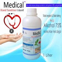 Hand Sanitizer 1 Liter Gel   Antiseptik Cair Medical + Alcohol 75%