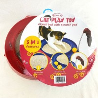 OPOCAT Cat Play Toy Circuit Ball Scratch Pad - mainan garukan kucing