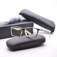frame kacamata minus anti radiasi rayban rb8395 black cream