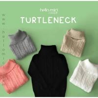Sweater Anak Turtleneck Jaket Knitwear Rajut Kardigan Baju Hangat
