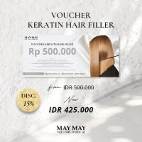 Voucher Keratin Hair Filler May May Salon - Memperbaiki rambut