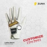 Customized Custom Sarung Tangan Zuna Gloves Golf Ladies Nature
