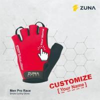 Customized Custom Sarung Tangan Zuna Gloves Cycling Men Pro Race