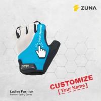 Customized Custom Sarung Tangan Zuna Gloves Cycling Ladies Fushion