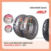Sepasang FDR 120/70-12 & 130/70-12 Sport Zevo Ban New Scoopy Vespa