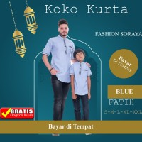 Baju Koko Kurta FATIH Couple Ayah Anak Setelan Keluarga KAPEL Baru