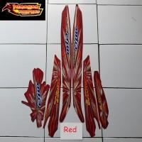 Striping Stiker Motor Yamaha Mio Sporty Kembang Api 2008 Lis Merah