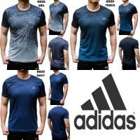 Kaos Olahraga Adidas 6920 Pria Atasan Import Fitness Gym Sport Futsal - Abu-abu, XL