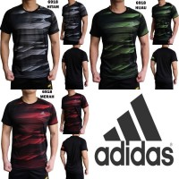 Kaos Olahraga Pria Adidas 6918 Baju Gym Fitness Lari Cowok Training