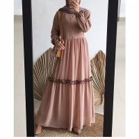 Promo Flash Sale Mufida Dress S M L XL Gamis Muslim Terpopuler