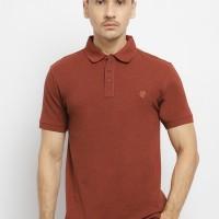 Osella Baju Pria Polo Shirt Merah Bata