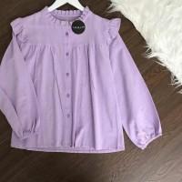 Blouse polos wanita - Puffy blouse model lengan panjang bahan twiscone