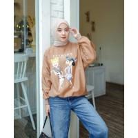 Grosir Baju Termurah Flins Sweater Pakaian Cewek Sweater Terbaru - Millo, L