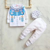 Setelan Baju Koko A2 Anak Bayi laki laki cowok Usia 6 Bulan - 2 tahun - S