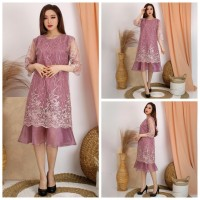 Dress Wanita Brukat Brokat Lebaran Kondangan Baju Pesta Remaja Modern