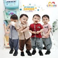 Baju Koko Setelan Anak Laki 3 18 Bulan Muslim Bayi Zavier Cute Kids