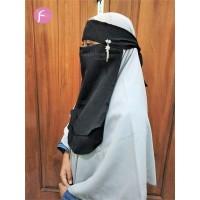 Cadar Bandana 2 Layer Pin Juntai Bahan Sifon Fathiya Niqab