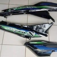 cover body Supra x lama 100cc plus striping / bodi supra x lama