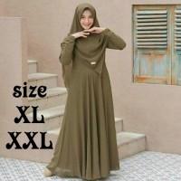 Remaja Kekinian Nisa Sabiyan K2T2 Gam LZ822 Baju Gamis Wanita Terbaru - army