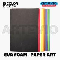 Eva Foam Paper Art 20x30 - 10 Lembar - Mix 10 Warna Dasar Lengkap