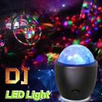 Lampu Disco LED Lampu Hias Lampu Disko Crystal Magic Ball Light USB - Hitam
