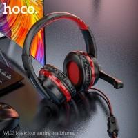 HOCO W103 Magic tour gaming headphones / Headphone Microphone - Merah