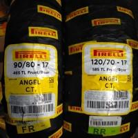 Paket ban Pirelli Angel city Uk 90 80 - 17 dan 120 70 - 17 Tubless