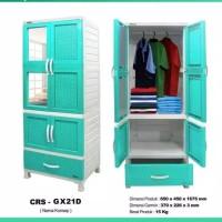 lemari pakaian plastik gantung jumbo napolly lemari baju gantungan