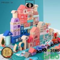 TF Mainan Balok Susun / Mainan kayu masa kini