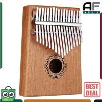 Cega Kalimba 17 key Thumb Piano Musical Toys - Natural Wood Piano Jari