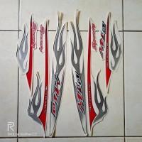 stiker striping motor yamaha mio sporty api 2006 putih ready stock