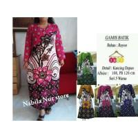 Baju Daster Batik Gamis Murah Lengan Panjang untuk Wanita Busui