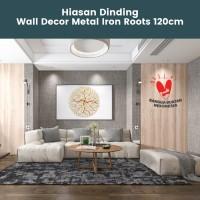 Hiasan Dinding Metal Emas   Wall Arts Decor diameter 120cm
