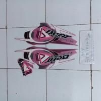 stiker beat old 2010 pink striping HONDA