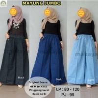 Kulot Jeans Jumbo Mayung Bawahan Wanita Muslim Big Size Celana Jeans