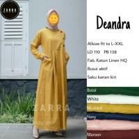 Gamis Dress Katun Polos Baju Wanita Busui Saku Samping Model Mayung