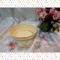 [K27M]Keranjang rotan anyaman bambu oval souvenir 20 x 15 x 6 cm murah