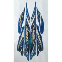 stiker striping yamaha mio sporty 2010 biru
