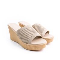 FLADEO Sandal Wedges Wanita LDH354-1RV - Cream - 37