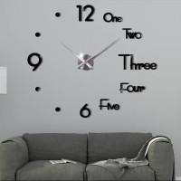 Jam Dinding Besar Raksasa DIY Giant Wall Clock 70 - 90 cm - Hitam