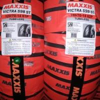 Paket Ban Maxxis Victra 120 70 - 14 140 70 - 14 TUBELESS Motor Aerox