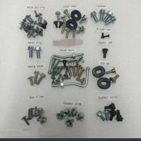 baut lengkap full set body honda supra x 100cc tahun