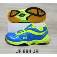 Sepatu Badminton Anak Junior RS JF 884 Warna Biru Ukuran 34-36