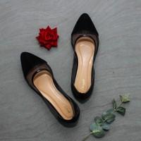 Urban Heaves Flatshoes Selyn Black Gray - Flatshoes wanita premium