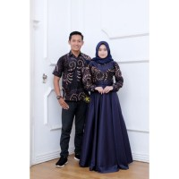 Baju batik couple Gamis Hem terbaru modern outfit kondangan lamaran -