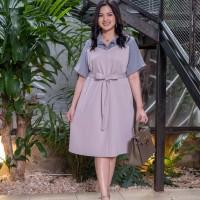 Isuka Fashion Denuka Dress Fit to Ld 112-120cm Cocok untuk BB 60-95kg - Grey